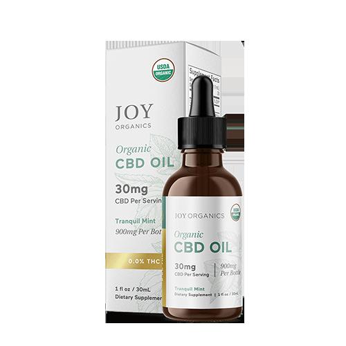 Joy Organics broad spectrum Tranquil Mint CBD Tincture